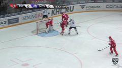 Удаление. Болдюк Александр (Медвешчак) за атаку игрока не владеющего шайбой.