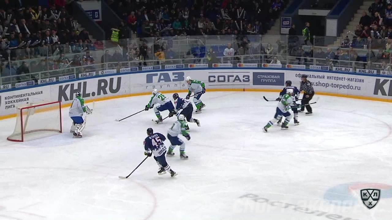 Гол. 1:0. Аляев Артём (Торпедо) открывает счет матча в большинстве