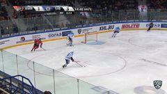 Удаление. Меньшиков Виталий (Сибирь) наказан малым штрафом за атаку игрока, не владеющего шайбой