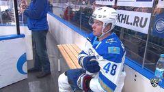 Удаление. Роман Старченко (Барыс) получил 2+10 минут штрафа