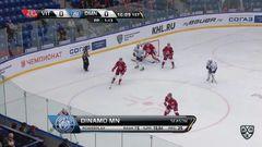 Гол. 0:1. Сергей Костицын (Динамо) хитро подправил шайбу в ворота