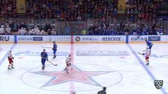 Удаление. Антон Белов (СКА) получил 2 минуты за атаку игрока, не владеющего шайбой
