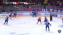 Гол. 2:3 Скотт Грег (ЦСКА) оформляет дубль, забросив шайбу в ворота соперника
