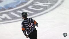 Удаление. Китаров Александр (Динамо Мн) удален на 4 минуты за опасную игру высоко поднятой клюшкой