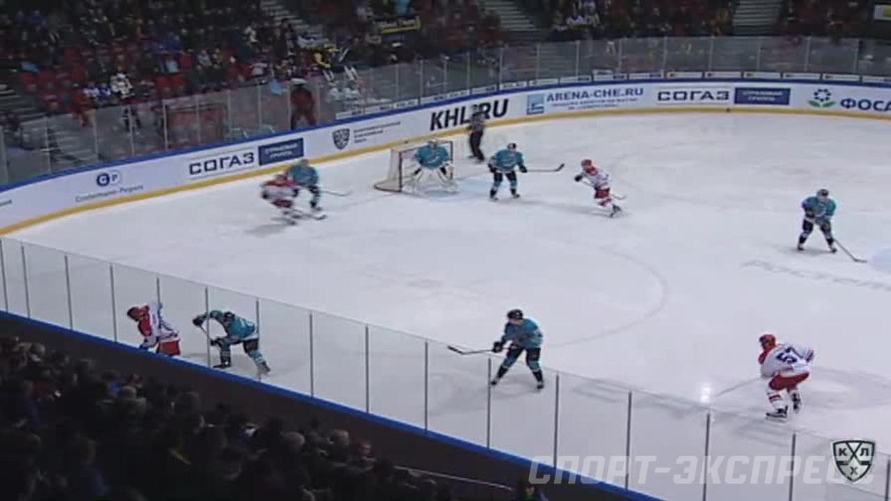 Опасный момент. Мамин Максим (ЦСКА) набрасывал на ворота