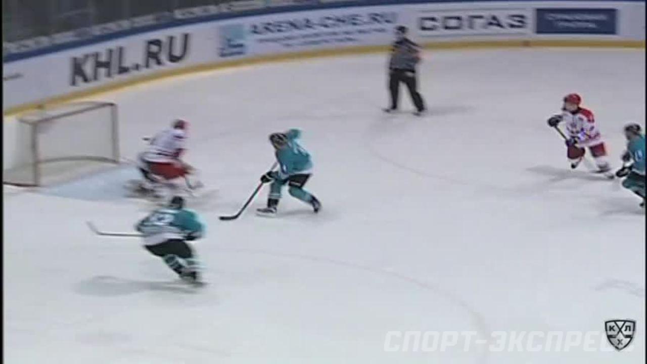 Северсталь - ЦСКА. Лучшие моменты второго периода