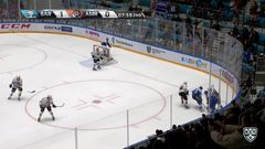 Удаление. Никита Камалов (Амур) удалён на 2 минуты за атаку игрока, не владеющего шайбой