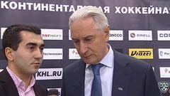 Интересный момент. Интервью дает Билялетдинов Зинэтула, главный тренер команды Ак Барс