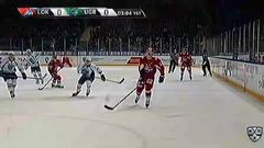 Удаление. Красковский Павел (Локомотив) удален на 2 минуты за выброс шайбы