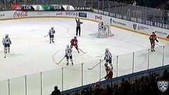 Удаление. Коршков Егор (Локомотив) удален на 2 минуты за опасную игру высоко поднятой клюшкой