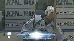 Удаление. Тальбо Максим (Локомотив) удален на 2 минуты за атаку игрока, не владеющего шайбой