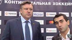 Интересный момент. Интервью дает Буцаев Вячеслав, главный тренер команды ХК Сочи