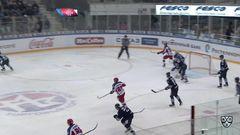 Удаление. Науменков Михаил (ЦСКА) за атаку игрока не владеющего шайбой.