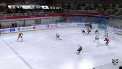 Удаление. Марцинко Томаш (Куньлунь РС) удален на 2 минуты за опасную игру высоко поднятой клюшкой