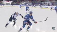 Удаление. Зернов Денис (Лада) удален на 2 минуты за атаку игрока, не владеющего шайбой
