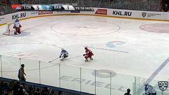Удаление. Любушкин Илья (Локомотив) за удар локтем удален на 2 минуты