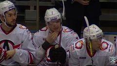 Коршков получает повреждение после силового приема Мегалинского