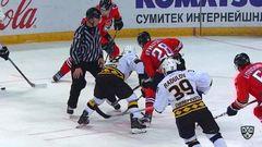 Удаление. Радулов Игорь (Северсталь) за атаку в область головы и шеи.