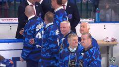 Удаление. Сергей Плотников (СКА) получил 2 минуты за опасную игру высоко поднятой клюшкой