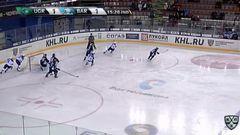 Удаление. Анкудинов Андрей (Югра) за атаку игрока не владеющего шайбой.