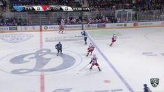 удаление. Никита Черепанов (Локомотив) наказан малым штрафом за опасную игру высоко поднятой клюшкой