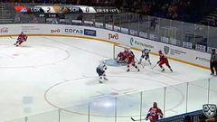Удаление. Накладал Якуб (Локомотив) удален на 2 минуты за атаку игрока, не владеющего шайбой
