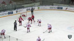 Удаление. Михеев Артём (Металлург Нк) за выброс шайбы.