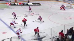 Удаление. Егор Аверин (Локомотив) получил 2 минуты за удар клюшкой