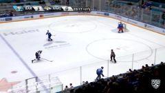 Удаление. Хабаров Ярослав (Металлург Мг) удален на 4 минуты за толчок клюшкой