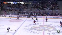 Гол. 0:1. Сергей Монахов (Северсталь) здорово приложился по шайбе