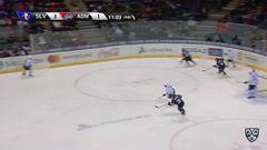 Гол. 1:2. Макаренко Павел (Адмирал) забрасывает шайбу в ворота соперника. Шайба была засчитана после видеопросмотра повтора игрового момента