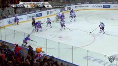 Гол. 3:5. Кузнецов Сергей (ХК Сочи) забрасывает шайбу в пустые ворота соперника