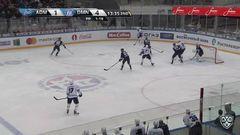 Удаление. Стась Андрей (Динамо Мн) за атаку игрока не владеющего шайбой.