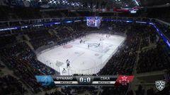 Удаление. Никита Пивцакин (ЦСКА) удалён на 2 минуты за атаку игрока, не владеющего шайбой