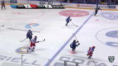 Удаление. Егор Зайцев (Динамо) получил 2 минуты за атаку игрока, не владеющего шайбой
