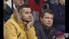 Гол. 0:1. Томислав Заношки (Медвешчак) наказал хозяев зо потерю шайбы