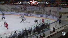 Удаление. Николай Стасенко (Северсталь) оштрафован на 2 минуты за подножку