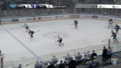 Удаление. Серсен Михал (Слован) за атаку игрока не владеющего шайбой.