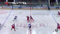 Удаление. Хабаров Ярослав (Металлург Мг) удален на 2 минуты за атаку игрока, не владеющего шайбой