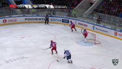 Удаление. Ожиганов Игорь (ЦСКА) удален на 5+20 минут за атаку соперника сзади