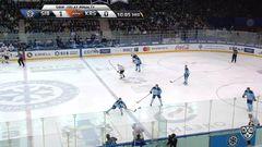 Удаление. Воробьёв Кирилл (Сибирь) удален на 2 минуты за опасную игру высоко поднятой клюшкой