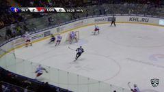 Удаление. Локтионов Андрей (Локомотив) удален на 2 минуты за опасную игру высоко поднятой клюшкой
