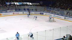Гол. 3:0. Окулов Константин (Сибирь) забрасывает шайбу в ворота соперника
