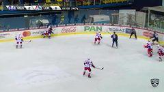 Удаление. Накладал Якуб (Локомотив) удален на 2 минуты за удар клюшкой
