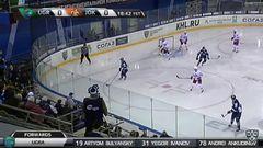 Гол. 1:0. Беляев Кирилл (Югра) с пятака в дальний угол