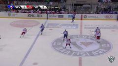 Удаление. Семёнов Алексей (Витязь) за атаку игрока не владеющего шайбой.