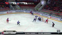 Удаления. Джефф Плэтт (ЦСКА) и Дмитрий Сёмин (Торпедо) получили по 2 минуты