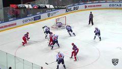 Удаление. Михаил Науменков (ЦСКА) получил 2 минуты за атаку игрока, не владеющего шайбой