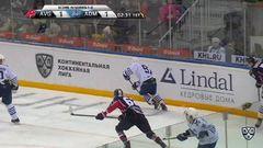 Удаление. Антон Бурдасов (Авангард) удалён на 2 минуты за опасную игру высоко поднятой клюшкой