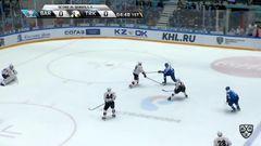 Удаление. Новотны Иржи (Трактор) за атаку игрока не владеющего шайбой.